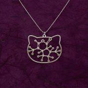 Catnip molecule silver necklace by Delftia science jewelry