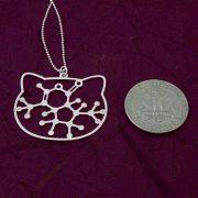 Catnip molecule silver coin