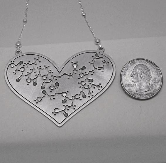 Oxytocin molecule silver big