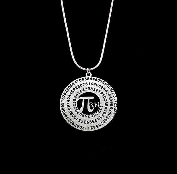 Pi necklace silver