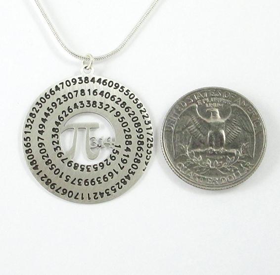 Pi silver coin