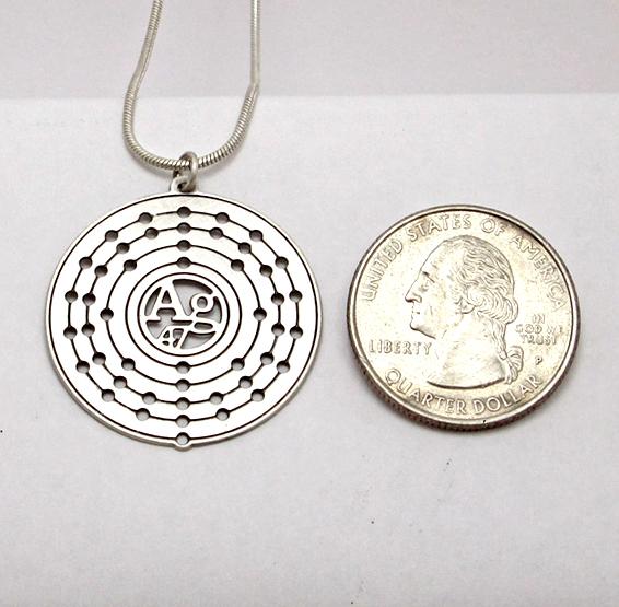 Silver atom coin