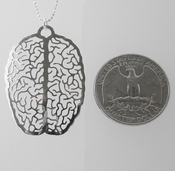 Delftia - Science Jewelry | Silver Necklaces | A little Extra Brain