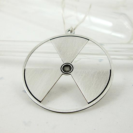 radiation symbol by Delftia Science Jewelry