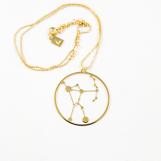 Orion constellation gold by Delftia Science Jewelry