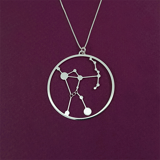 Orion constellation necklace silver by Delftia Science Jewelry
