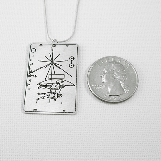 pioneer plaque by Delftia science jewelry
