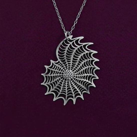 Elphidium silver necklace by Delftia Science Jewelry