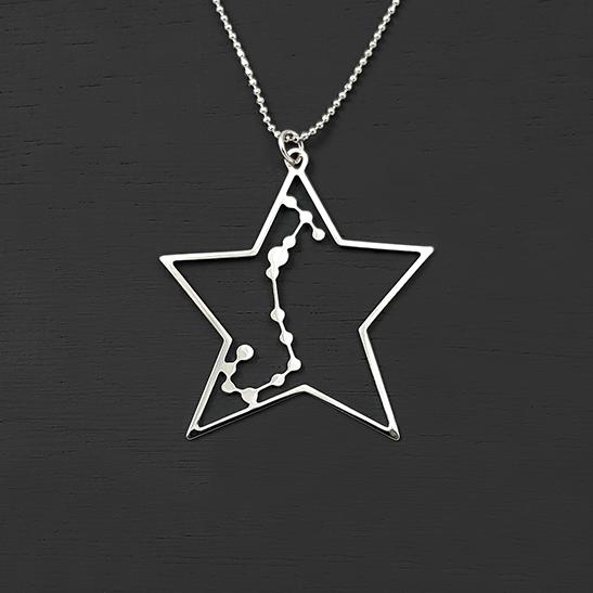 Scorpio in silver necklace by Delftia Science Jewelry