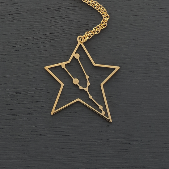 Taurus necklace in gold by Delftia Science Jewelry
