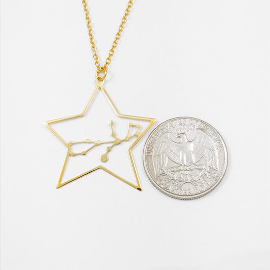 Virgo necklace by Delftia Science Jewelry