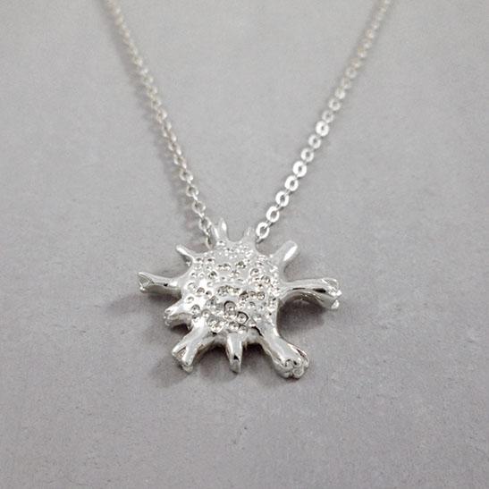 calcarina necklace in silver by Delftia science jewelry