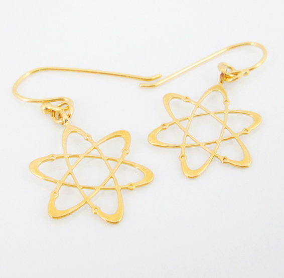 Carbon earring gold