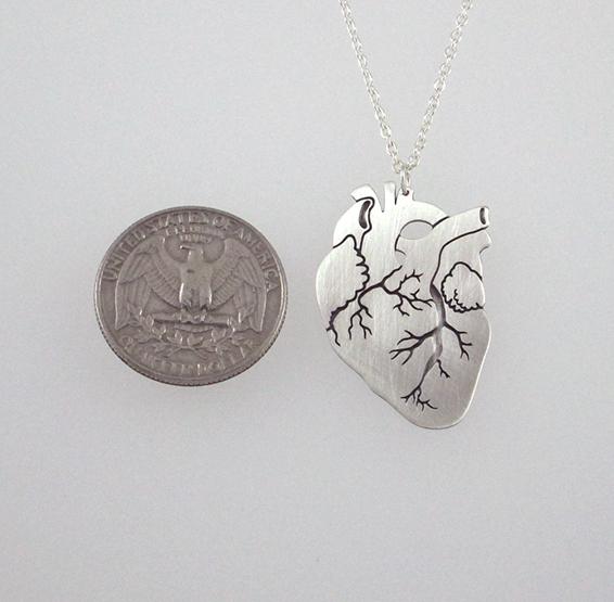Anatomy heart silver coin