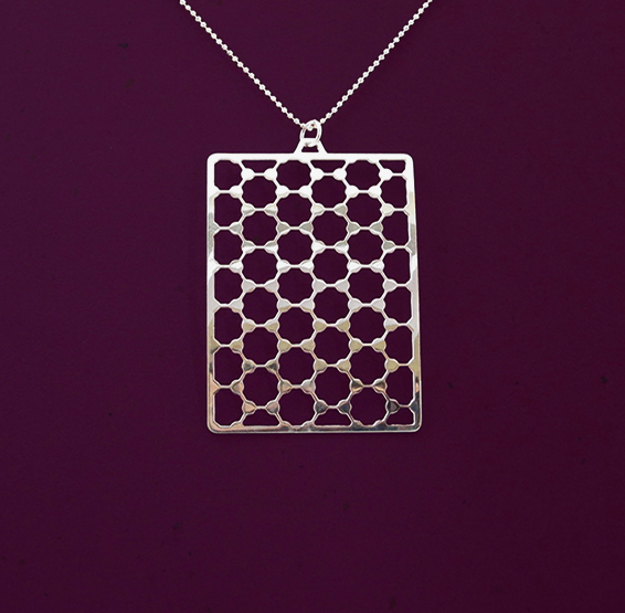 Geaphene silver necklace by Delftia science jewelry