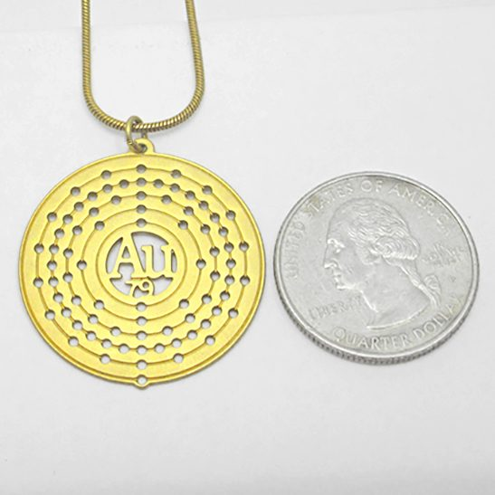 Gold Au necklace by Delftia Science Jewelry