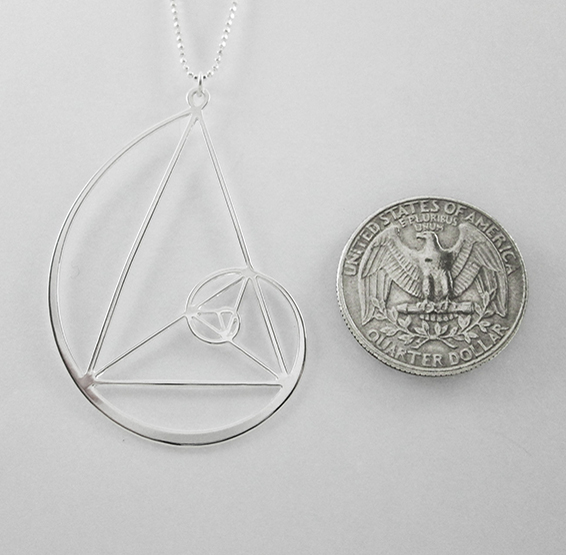 Golden triangle in silver