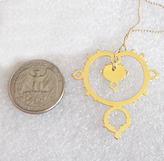 mandelbrot fractal in gold