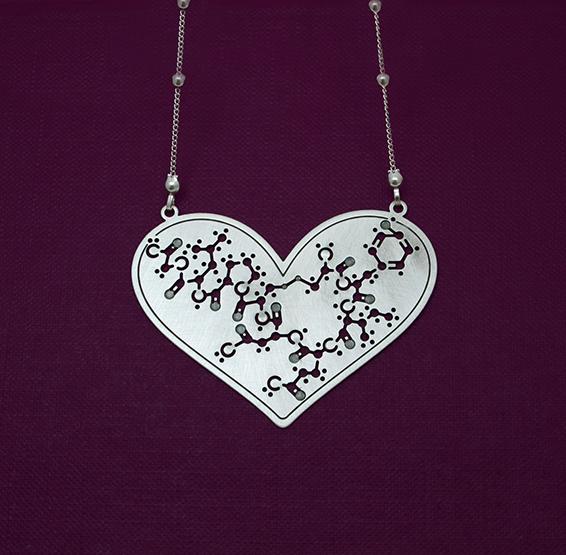 Oxytocin hormone molecule big heart