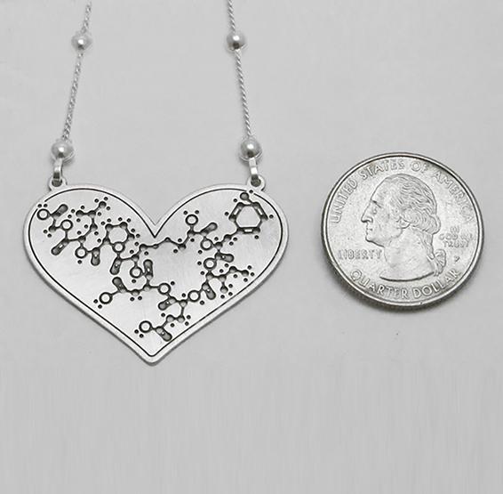 Oxytocin heart silver