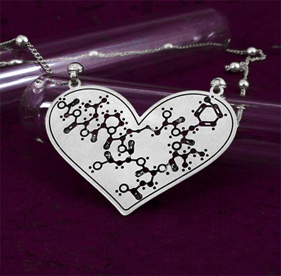 Oxytocin hormone molecule silver