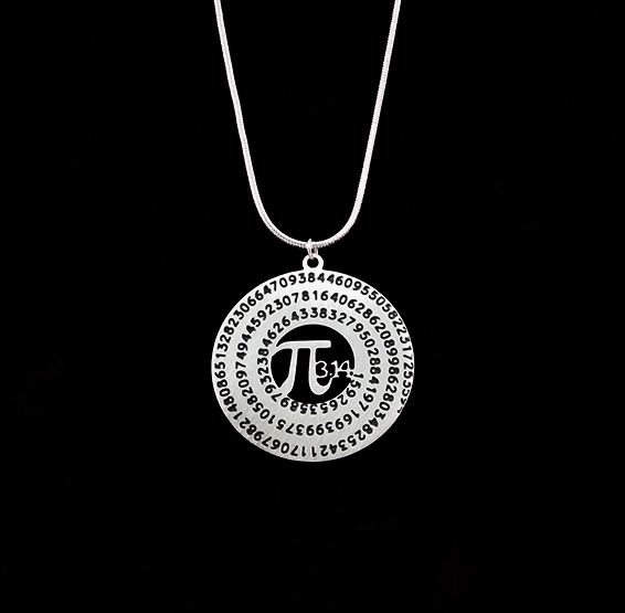 Pi necklace silver