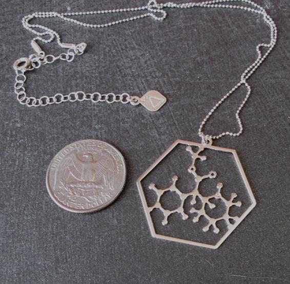 Ritalin molecule silver coin