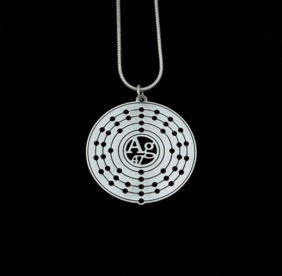 Ag Bohr's atomic structure of silver by Delftia Science Jewelry