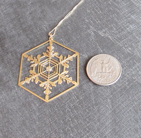 Snowflake gold coin