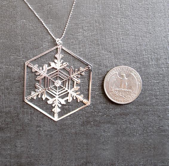 Snowflake silver coin