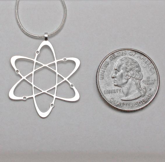 carbon atom silver coin