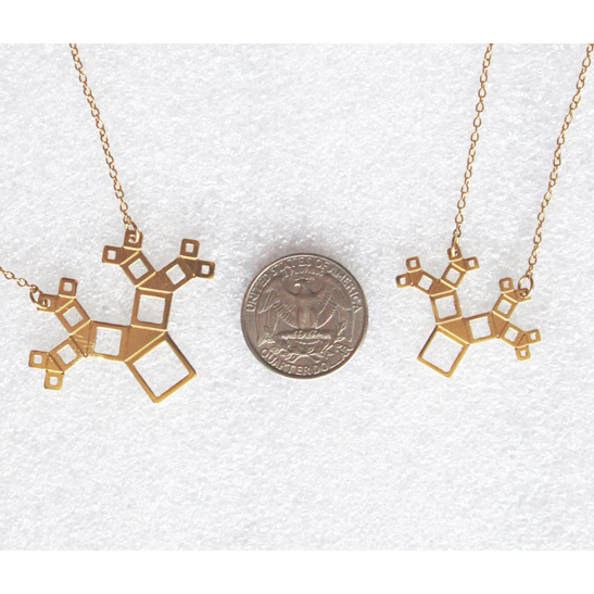 pythagoras necklace in gold by Delftia Science Jewelry