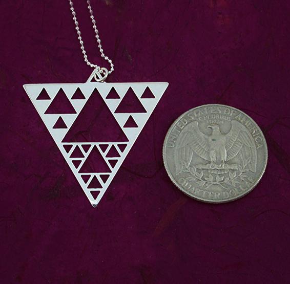 sierpinski triangle silver coin