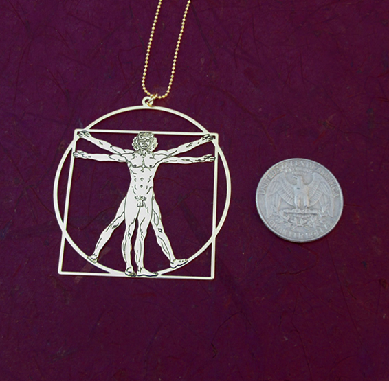 vitruvian man gold coin