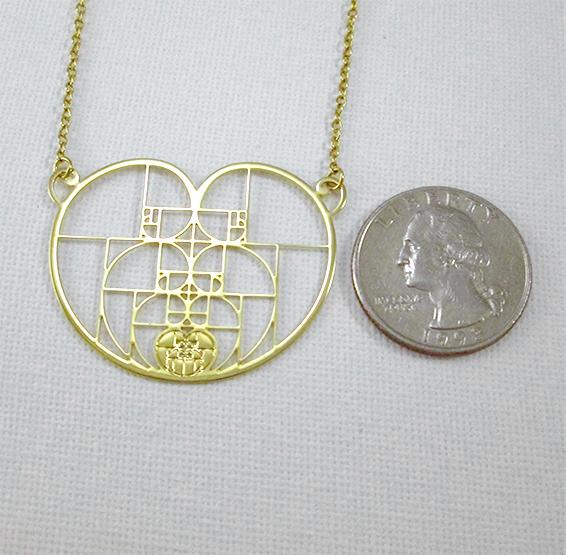 Golden ratio spirals coin
