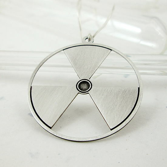 radiation symbol by Delftia Science Jewelry