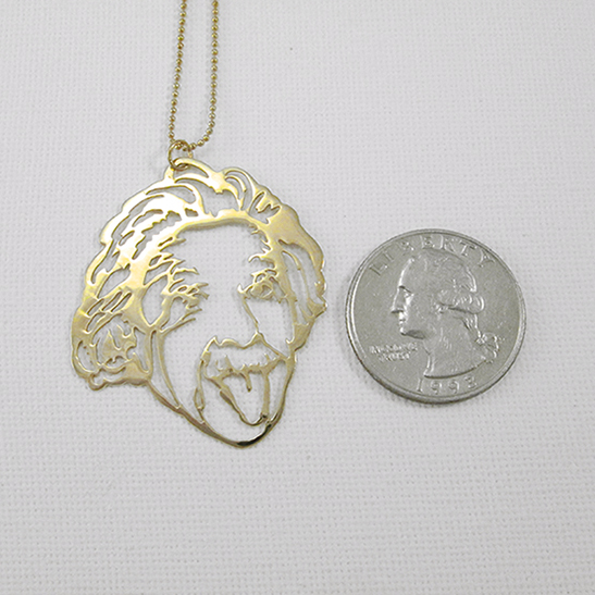 Einstein necklace gold by Delftia Science Jewelry