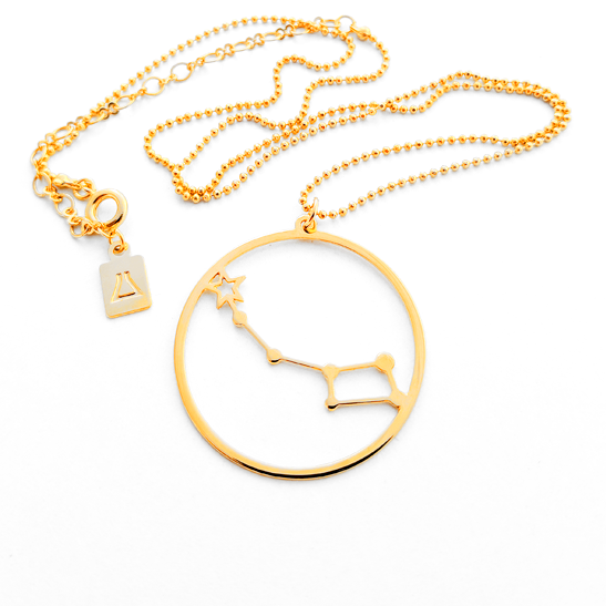 Little dipper constellation gold necklace by Delftia Science Jewelry