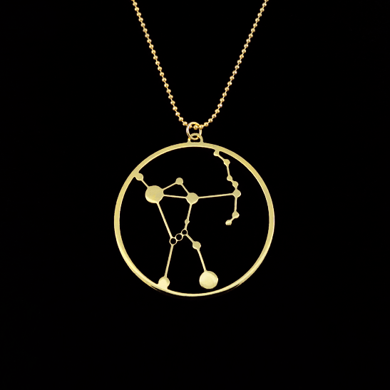 Orion constellation necklace by Delftia Science Jewelry