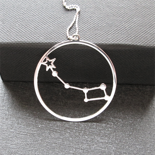 Little dipper Ursa Minor silver necklace by delftia Science Jewelry