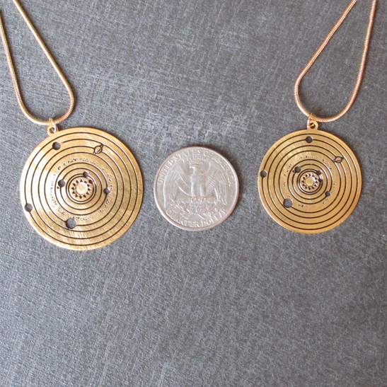 solar system gold by Delftia Science Jewelry