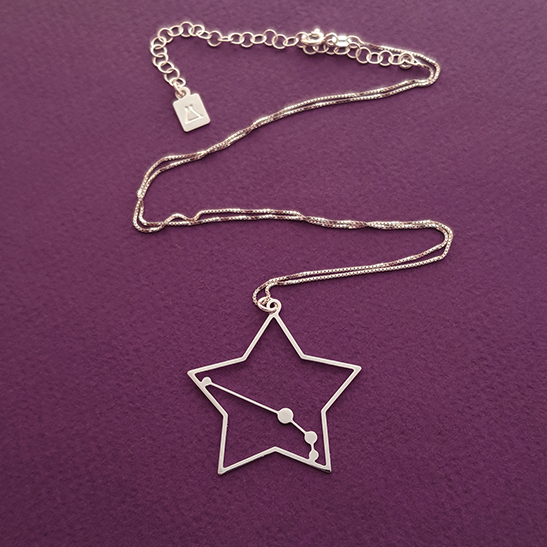 Aries constellation in silver by Delftia Science Jewelry