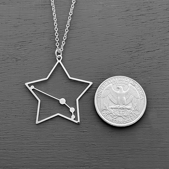 Aries constellation silver by Delftia Science Jewelry