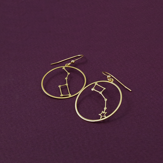 Big dipper and Little dipper constellation earrings by Delftia Science Jewelry