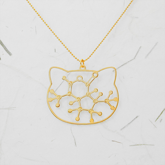 Catnip molecule necklace by selftia Science Jewelry