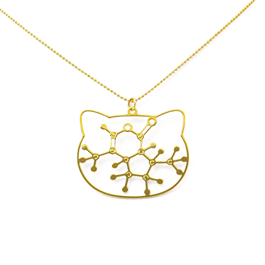Catnip necklace molecule by selftia Science Jewelry