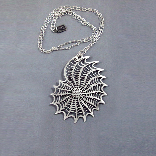 Elphidium necklacde in silver by Delftia Science Jewelry