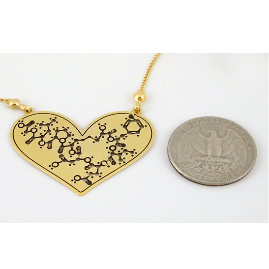 Oxytocin necklace by Delftia Science Jewelry