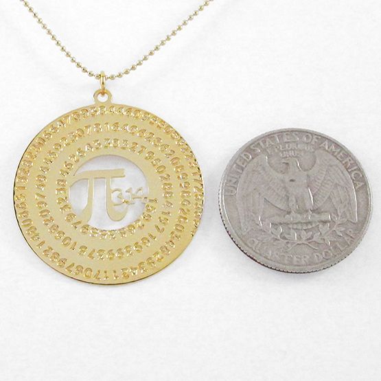 Pi necklace by Delftia Science Jewelry