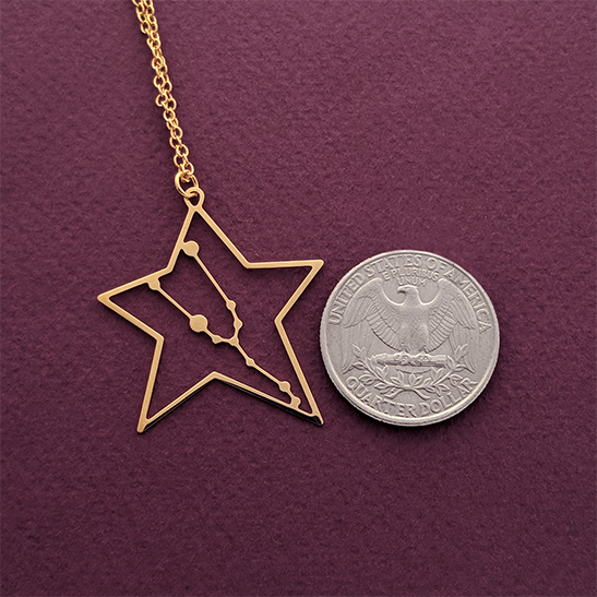 Taurus necklace gold by Delftia Science Jewelry